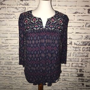 Anthropologie One September Embroidered S Top Boho
